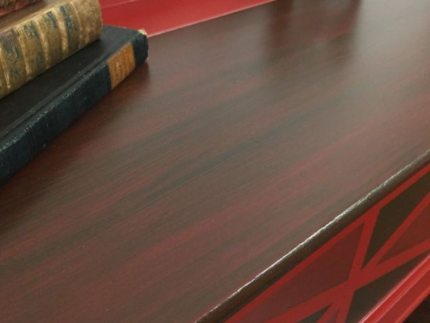 How to Paint a Barn Red Chest