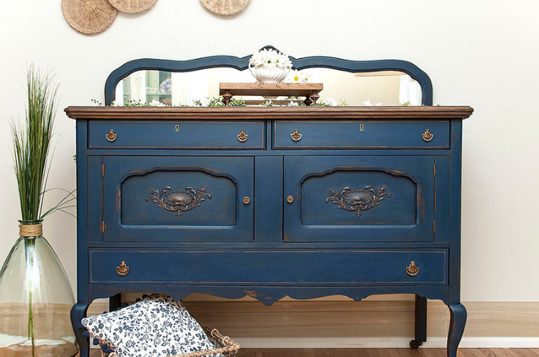 How to Makeover a Blue Buffet