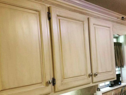Update Cabinets with Drop Cloth