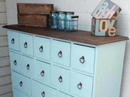 Update a Dresser with Sea Glass