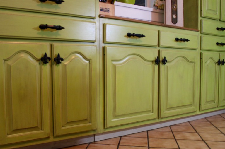 Paint your Cabinets with Limeade