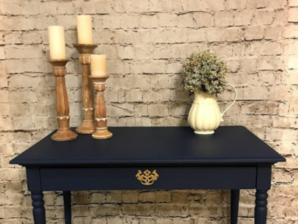 Update a Desk with Bunker Hill Blue