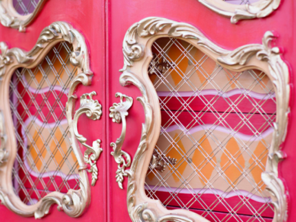 How to Paint a Pink Armoire