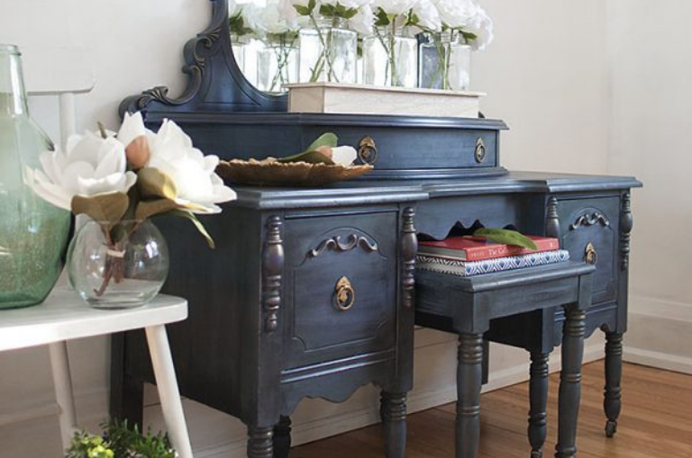 How to Create a Stormy Seas Vintage Vanity