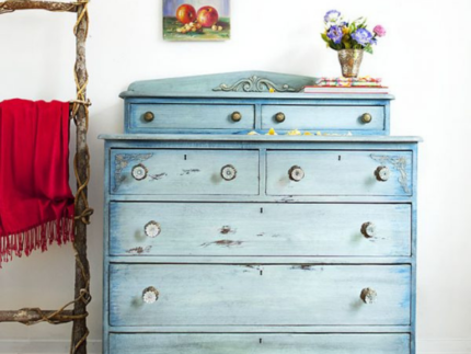 How to Create a Faded Denim Dresser