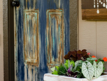 How to Paint a Patina Door