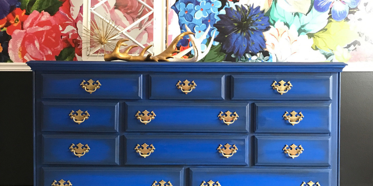 How to Paint a Cobalt Dresser – Tracey's Fancy