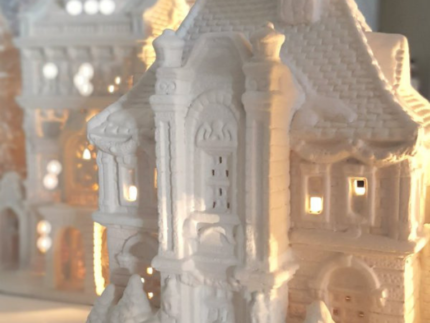 How to Paint Christmas Village Houses
