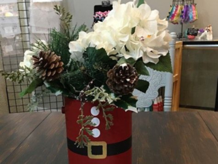 How to Turn Paint Cans into Cute Holiday Centerpieces