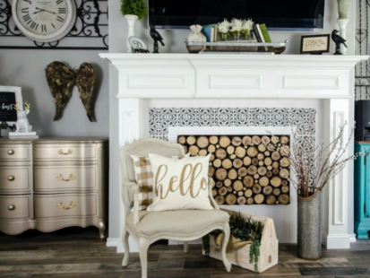 How to Paint Fireplace Tiles – Do Dodson Designs
