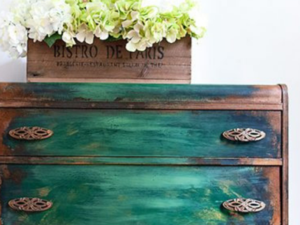 How to Use Iron Patina Paint with Green Spray