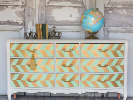 How to Use Mint Julep and Flamingo on a Dresser
