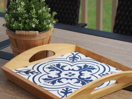 How to Paint a Stencil Tray