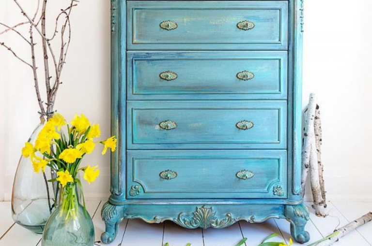 How to Paint a Springtime Tallboy