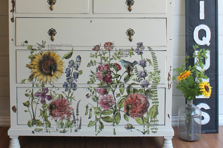 How to Create a Floral Dresser