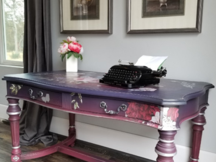 How to Paint a Purple Power Desk