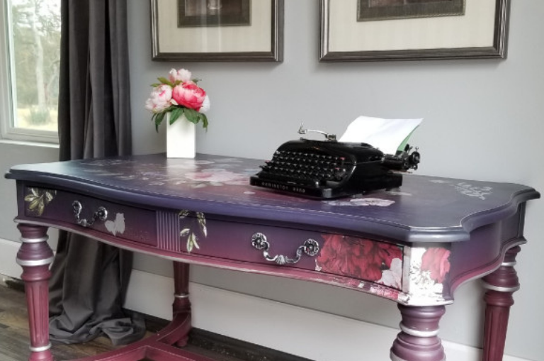How to Paint a Purple Power Desk