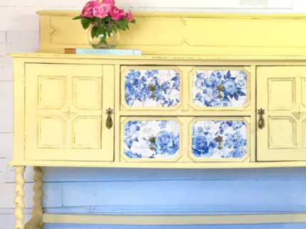 How to Paint a Buffet with Rebel Yellow