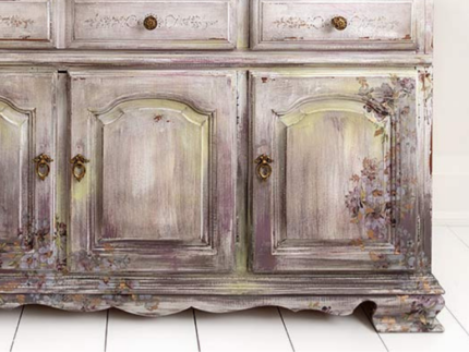 How to Paint a Lavender Buffet