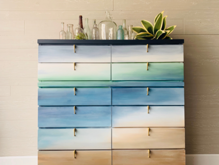 How to Paint a Beachy Dresser