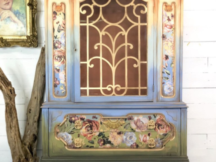 How to Create a Color Washed China Cabinet