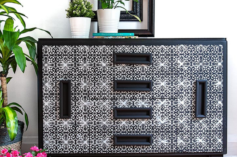 How To Use Furniture Stencils Dixie Belle Paint Company