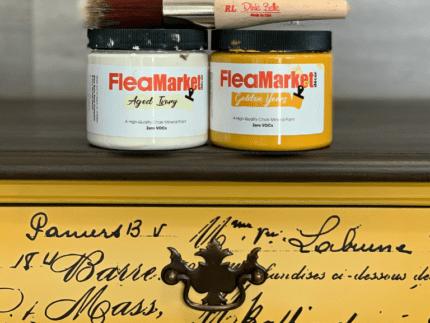 Paint a Desk with Flea Market Decor