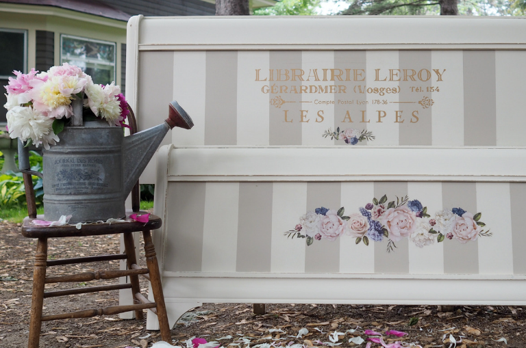 How Paint a French Peony Bed
