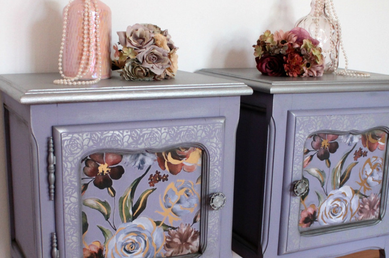 How to Paint a Nightstand Set
