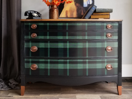 How to Paint a Plaid Chest