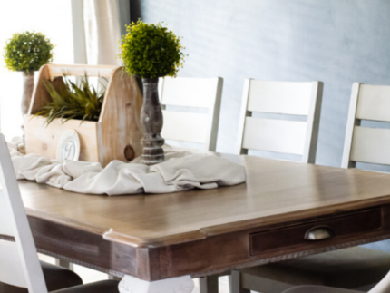 Whitewash a Wood Table
