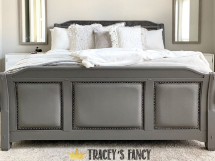 DIY Gray Painted Bed