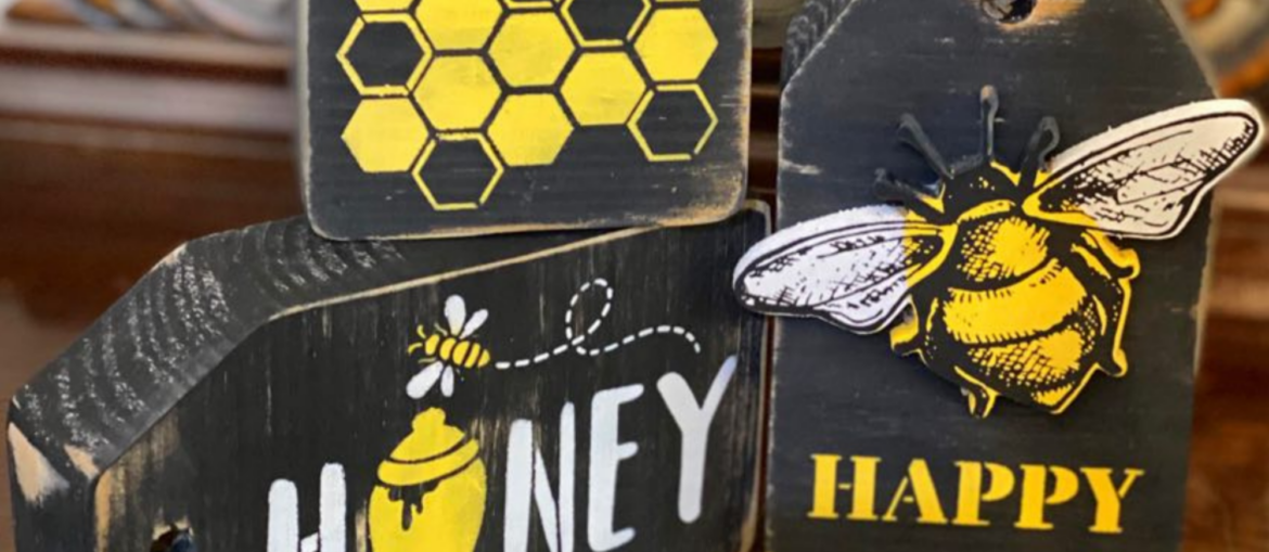 DIY Bumble Bee Tag Decor