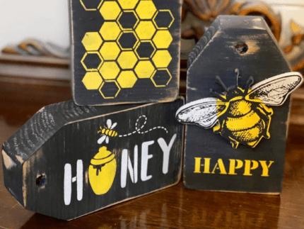 DIY Bumble Bee Tag Decor