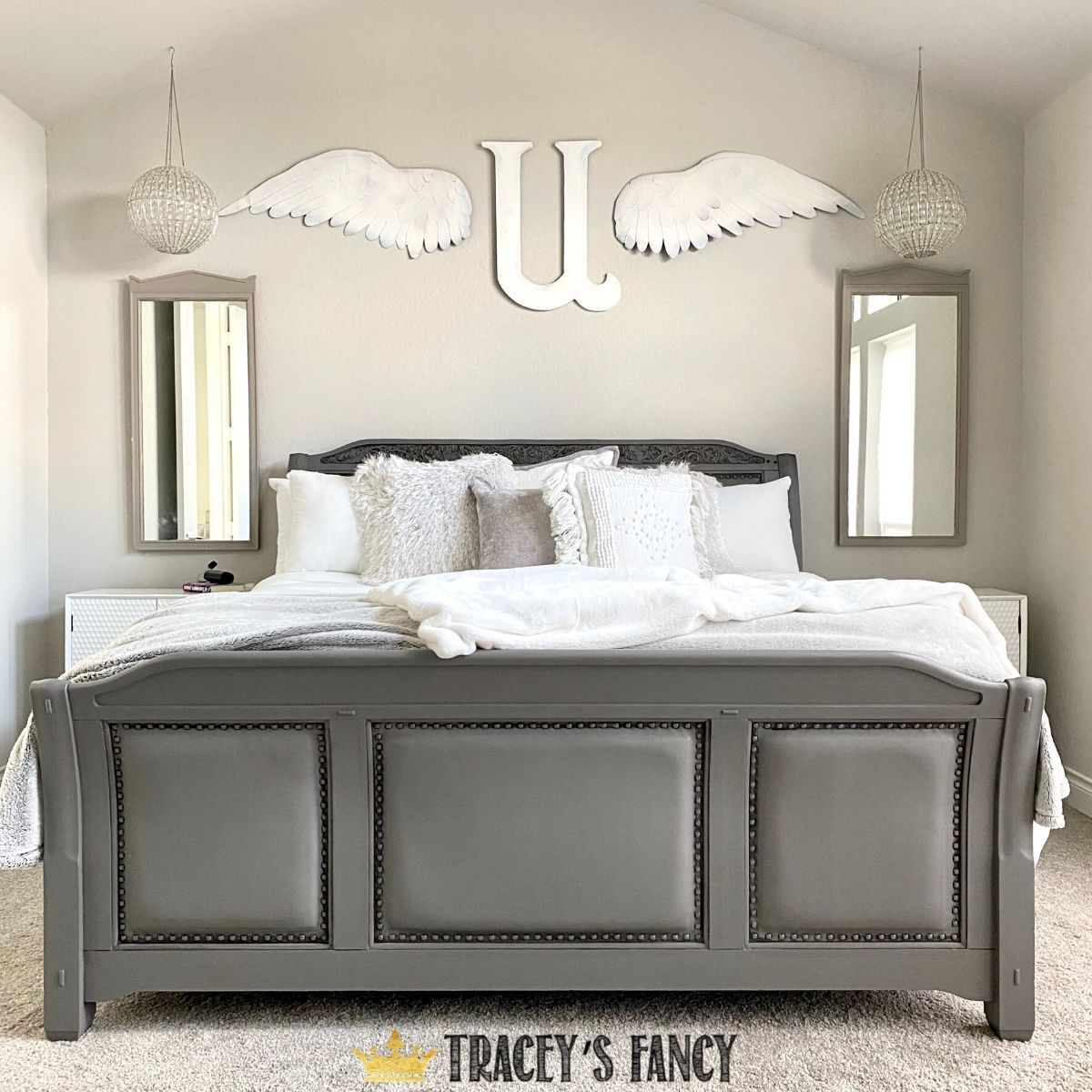 gray-painted-leather-bed