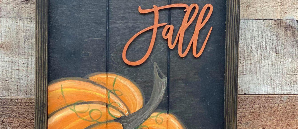 How to Paint a Pumpkin Sign