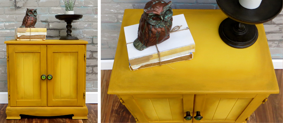 Learn How to Paint a Mustard Accent Table