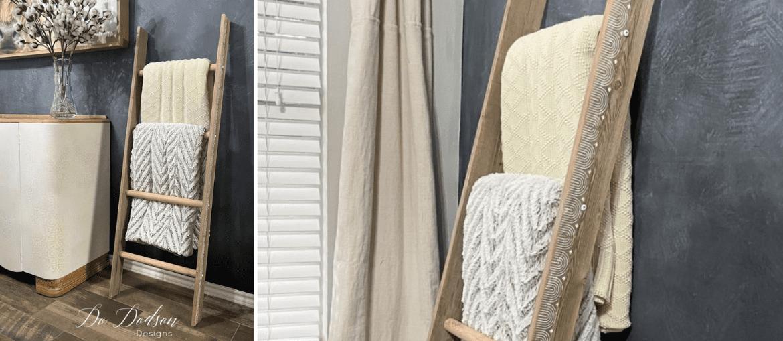 DIY Rustic Blanket Ladder