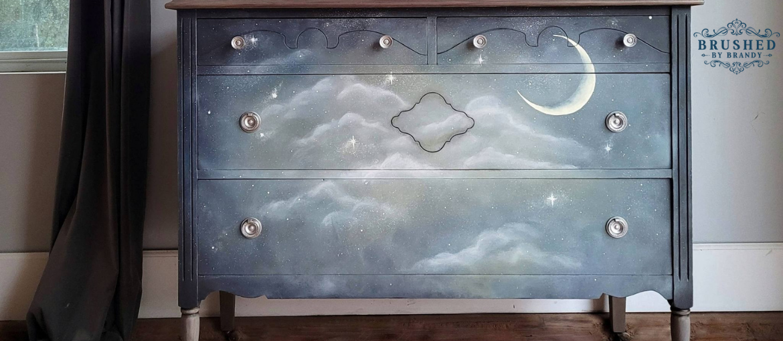 Under the Stars Dreamy Dresser Makeover
