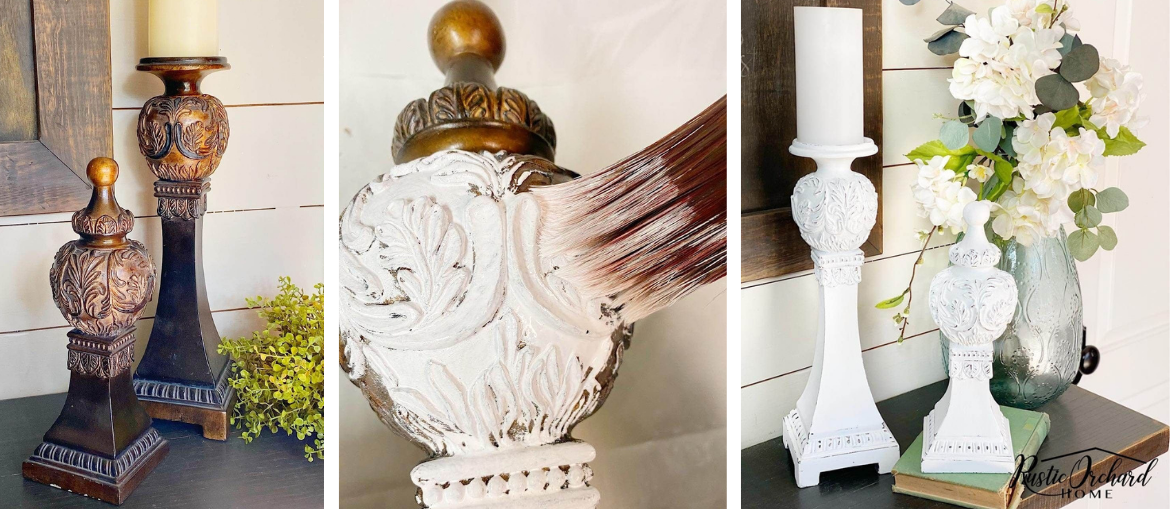 Upcycled Wooden Candlesticks