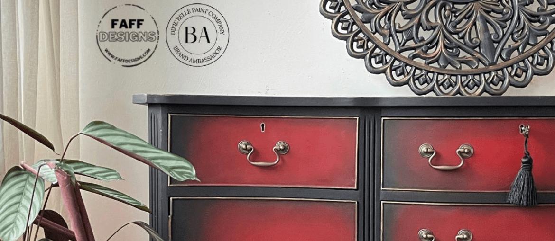 DIY Glamorous Blended Sideboard