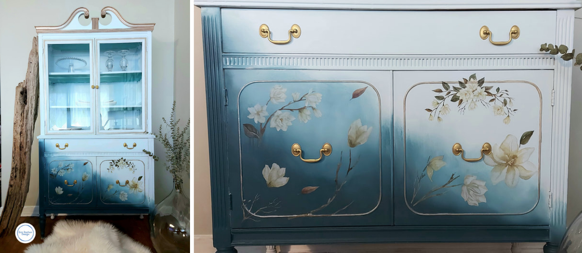Blended Hutch with Magnolia Garden Transfer