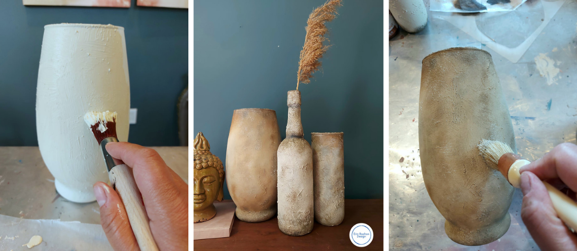 DIY Rustic Pottery using Chalk Mineral Paint